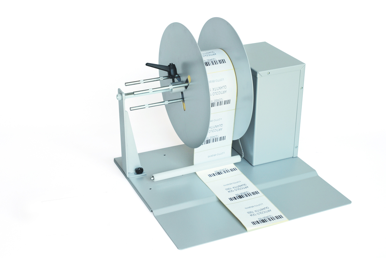 Rewinder for self-adhesive labels